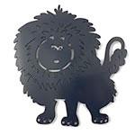 Placa Leão Azul - Infantil