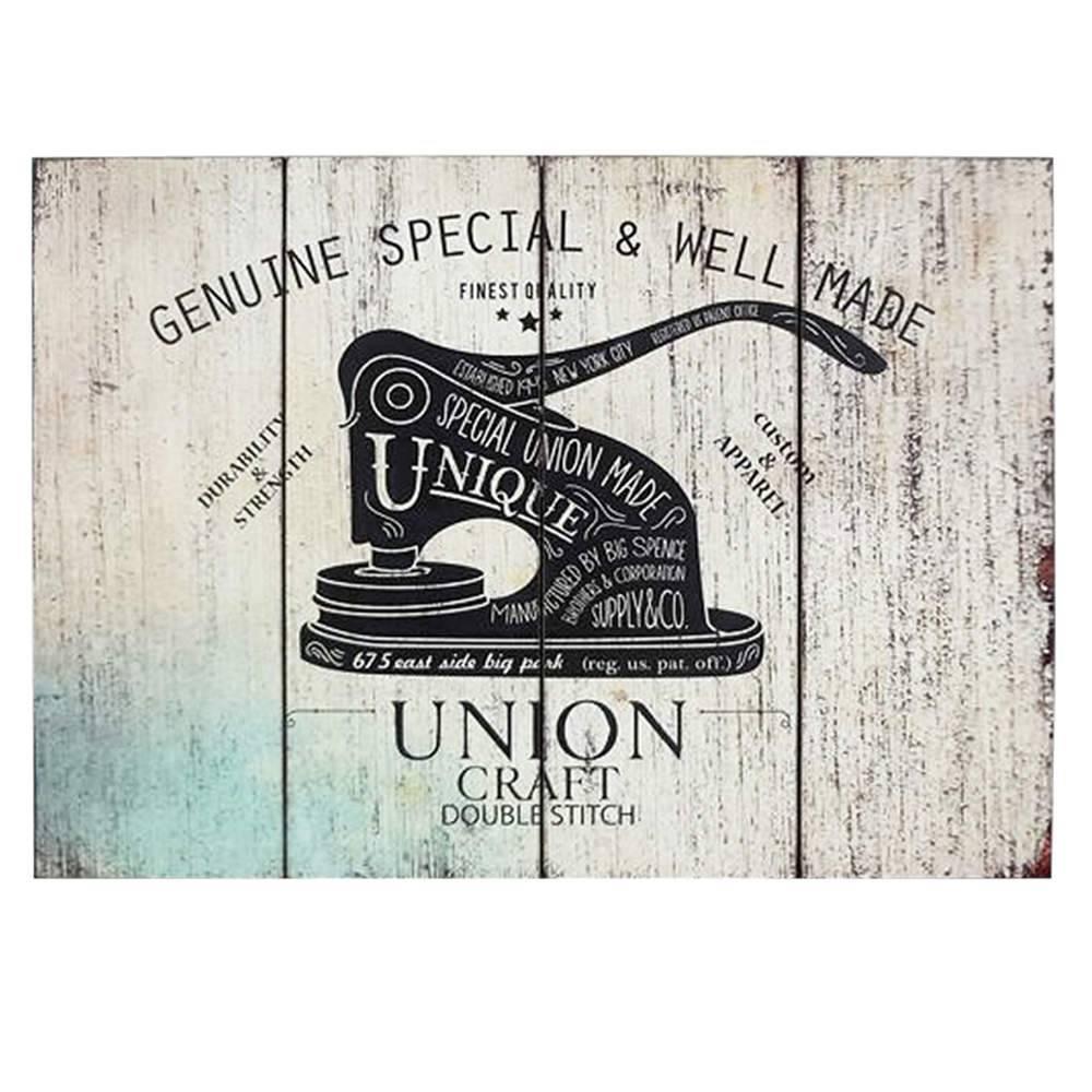 Placa Loft Union Craft em Madeira - Urban - 70x50 cm