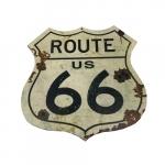 Placa logo route 66 vintage