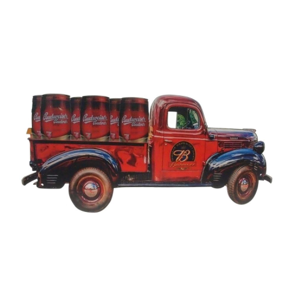 Placa MDF caminhonete Budweiser