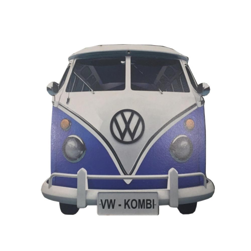 Placa MDF kombi azul