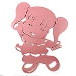 Placa Menininha Rosa - Tema Infantil - MDF Vazado - 33x41 cm