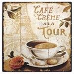 Placa de Metal Café Crème à La Tour Oldway - 25x25 cm