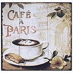 Placa de Metal Café à Paris Oldway - 25x25 cm