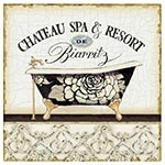 Placa de Metal Chateau Spa e Resort Oldway - 25x25 cm
