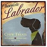 Placa de Metal Chocolate Labrador Oldway