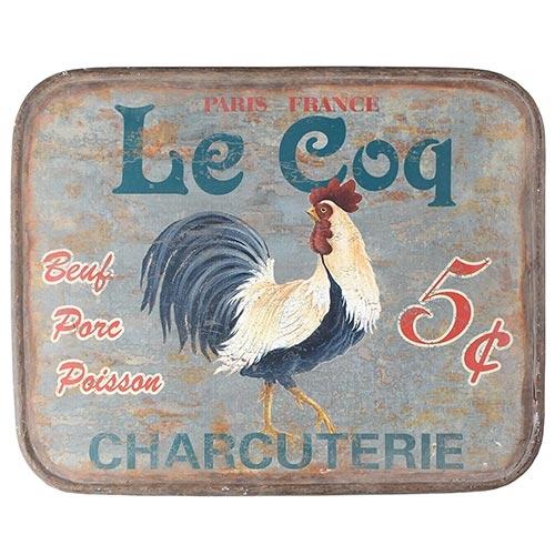 Placa de Metal Galo Le Coq Oldway - 51x41 cm