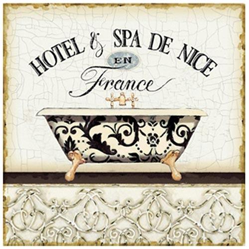Placa de Metal Hotel e Spa de Nice Oldway - 25x25 cm