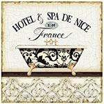 Placa de Metal Hotel e Spa de Nice Oldway