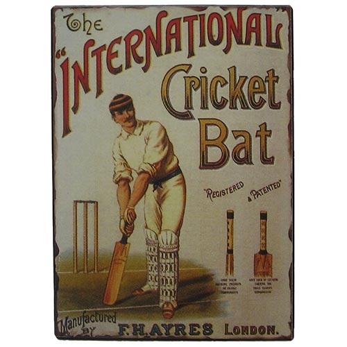 Placa de Metal International Cricket Oldway - 33x25 cm