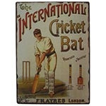 Placa de Metal International Cricket Oldway - 33x25 cm