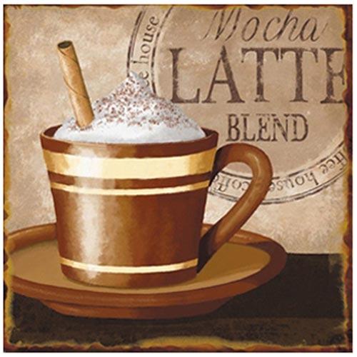 Placa de Metal Mocha Latte Blend Oldway - 25x25 cm