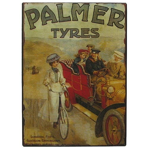Placa de Metal Palmer Tires Oldway - 33x25 cm