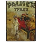 Placa de Metal Palmer Tires Oldway