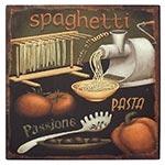 Placa de Metal Spaghetti Oldway - 25x25 cm