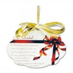 Placa Móbile Média Maior Presente de Natal Branco em MDF - 19x13 cm