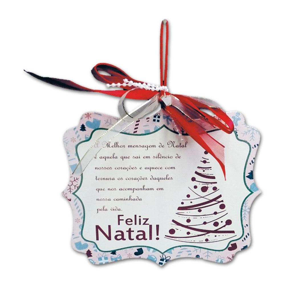 Placa Móbile Média A Melhor Mensagem de Natal em MDF - 19x13 cm