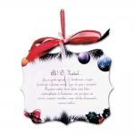 Placa Móbile Média O Natal Ultrapassa Qualquer Barreira em MDF - 19x13 cm