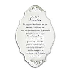 Placa Oração da Serenidade em MDF/Resina