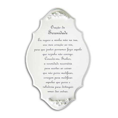 Placa Oração da Serenidade em MDF/Resina - 32x20 cm