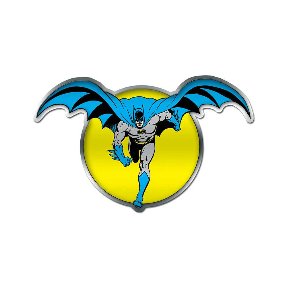 Placa de Parede DC Comics Batman And The Moon Amarelo em Metal - 45x28 cm