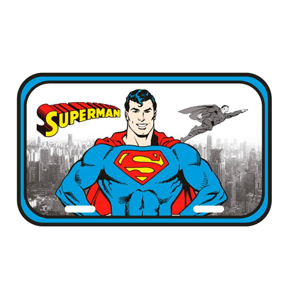 Placa de Parede DC Comics Superman Detroit City em Metal - Urban - 30x15 cm