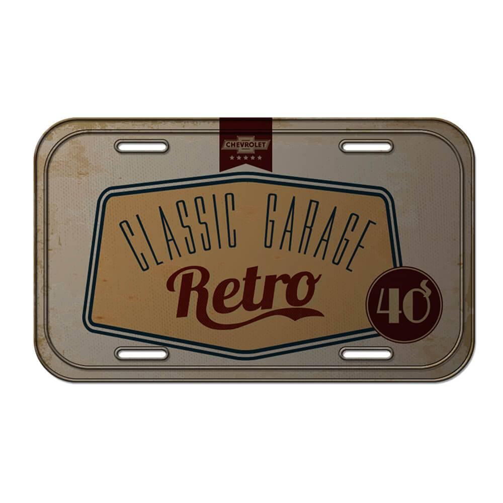 Placa de Parede GM Classic Garage Retrô em Metal - Urban - 30x15 cm