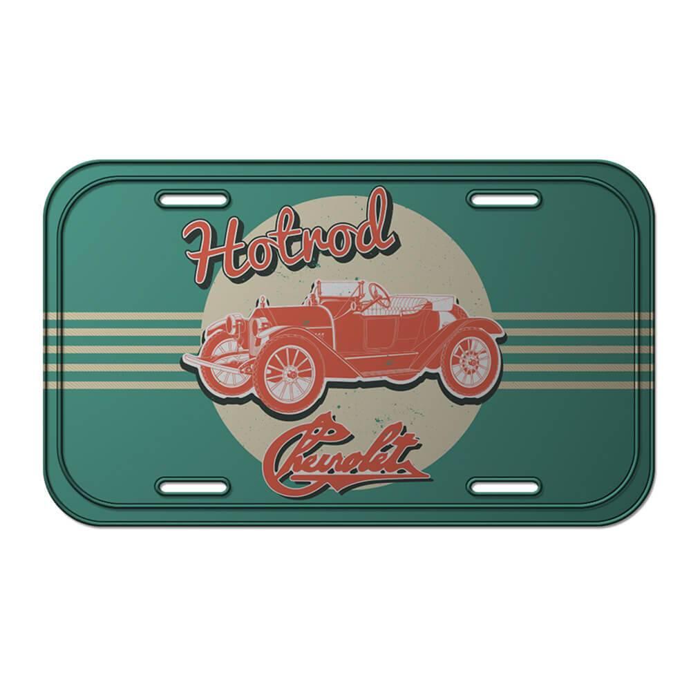 Placa de Parede GM Jalopy Hotroad Listras Verde em Metal - Urban - 30x15 cm