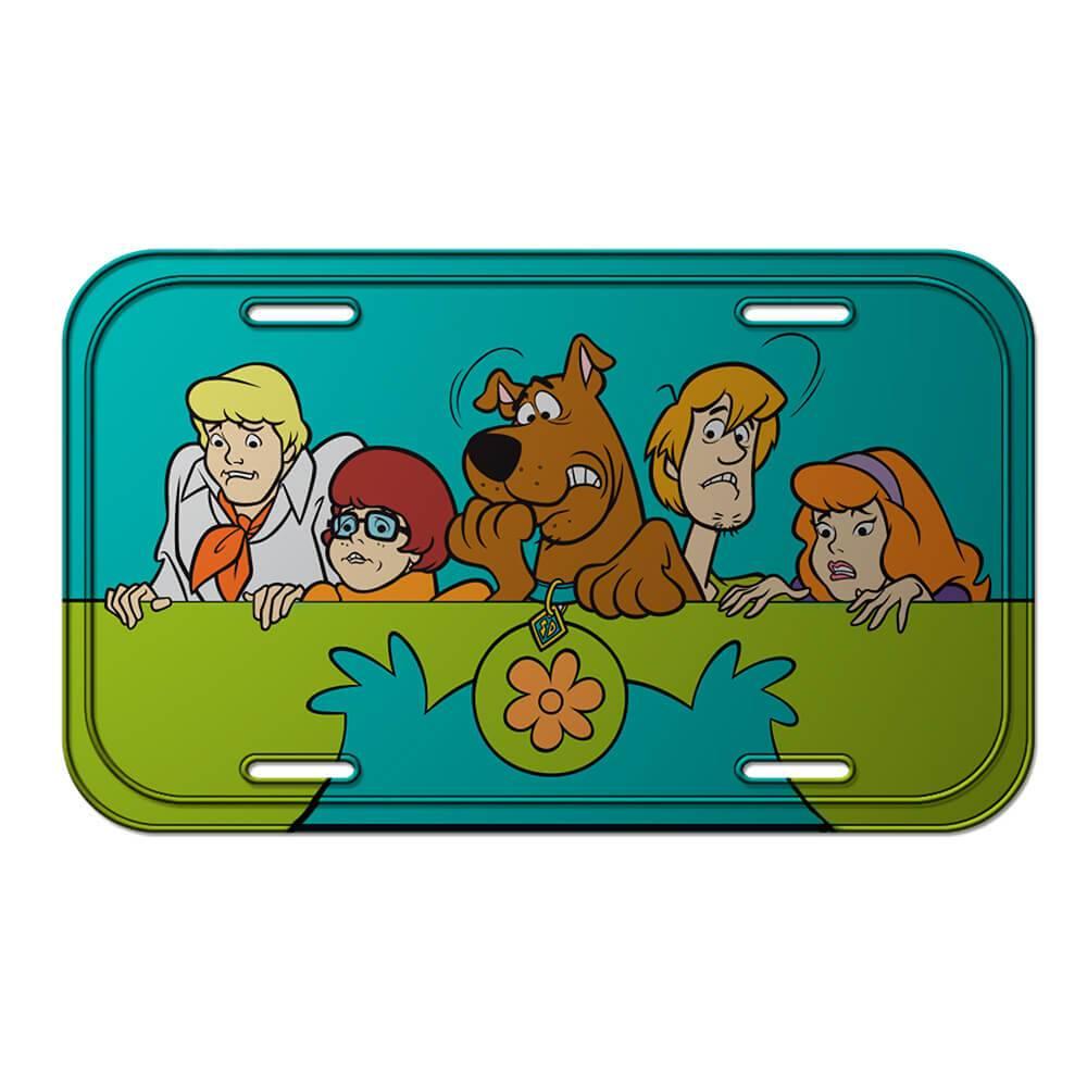 Placa de Parede Hanna Barbera Scooby Everybody Scared em Metal - Urban - 30x15 cm