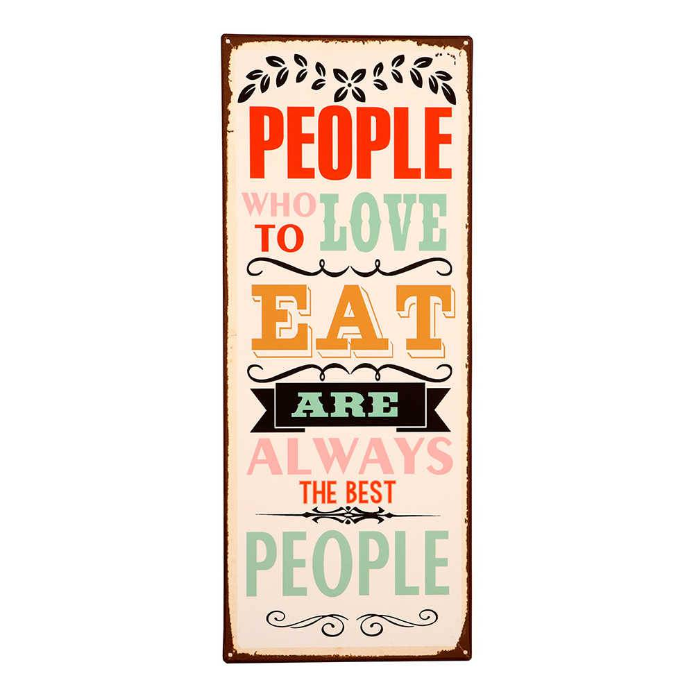 Placa People Who To Love em Metal - 76x30 cm