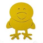 Placa Pintinho Amarelo - Tema Infantil -  MDF Vazado - 27x35 cm