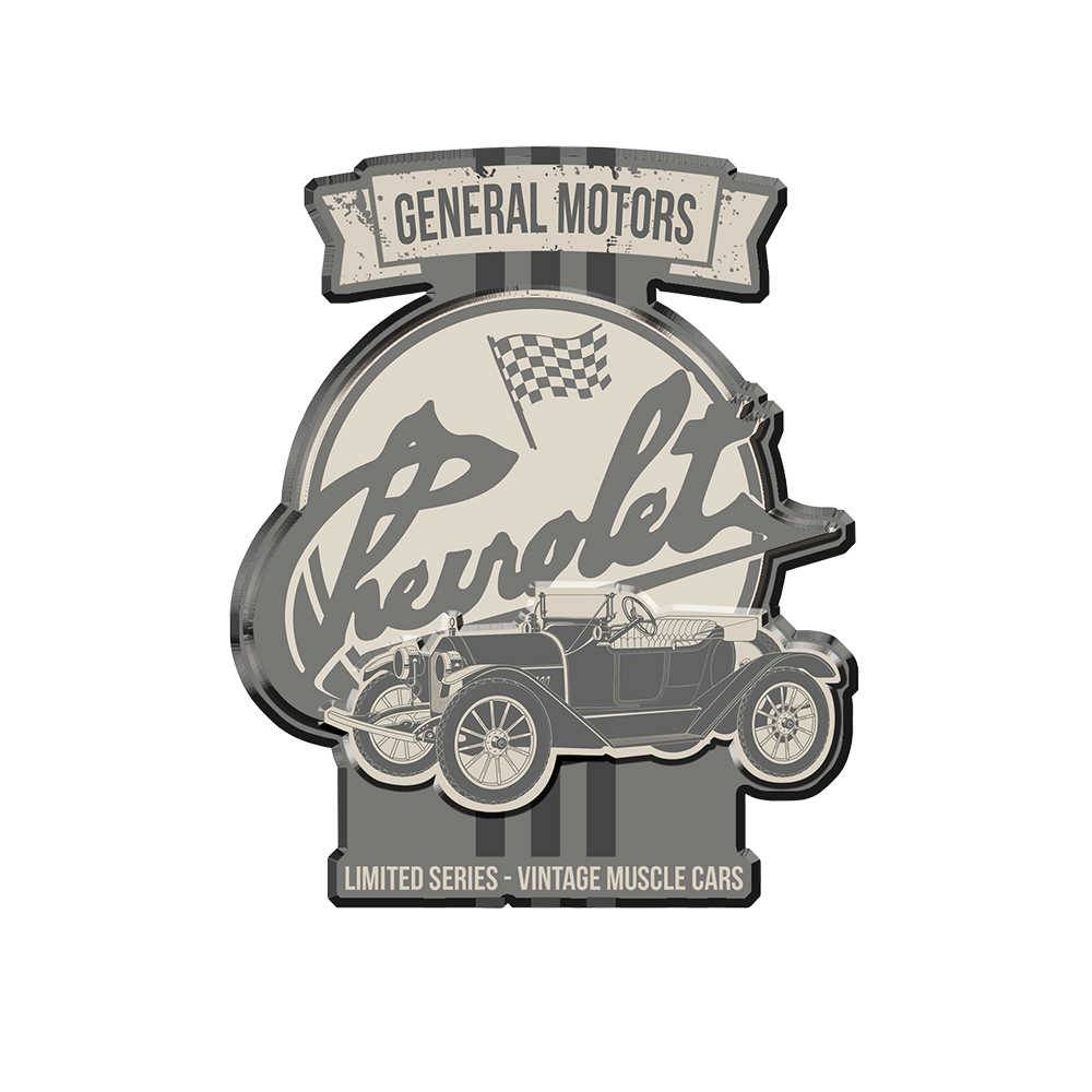Placa Recortada GM Jalopy Limited Edition Fundo Cinza em Metal - 40x36 cm