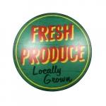 Placa redonda fresh produce
