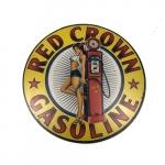 Placa redonda red crown gasoline