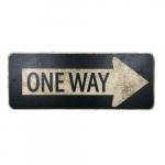 Placa retangular one way
