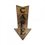 Placa seta café