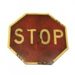 Placa sinal de trânsito - STOP