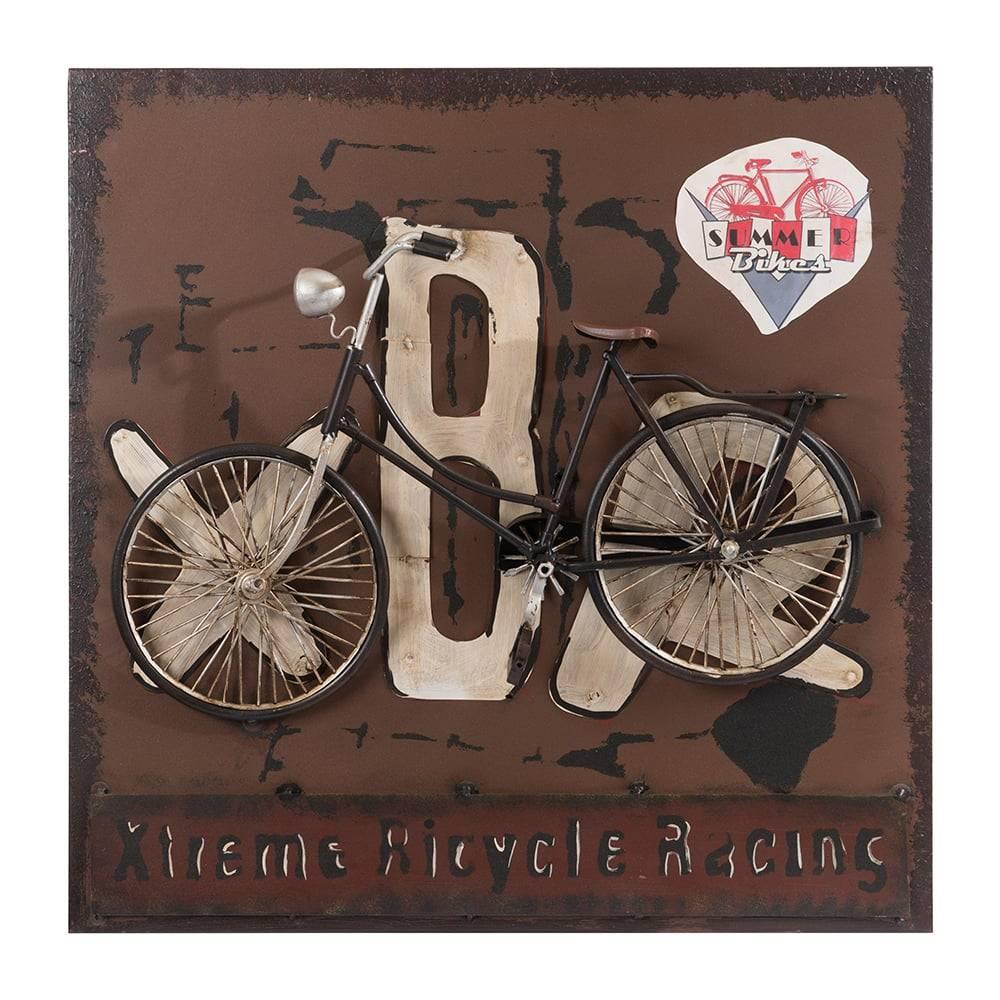 Placa Xtreme Bicycle Racing Marrom em Ferro - 50x50 cm