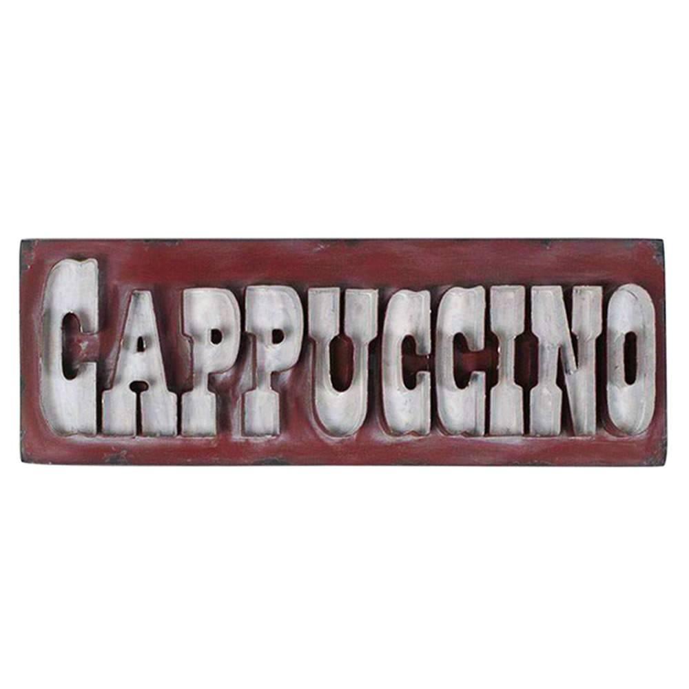 Placas Big Letters Cappuccino Vermelho em Ferro - Urban - 60x20 cm
