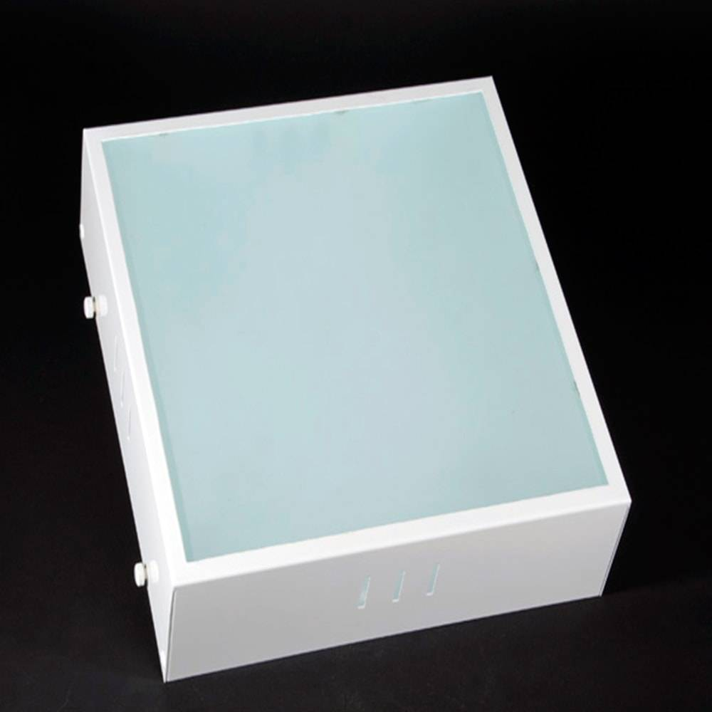 Plafon de Sobrepor Branco Fosco em Vidro - 19x8 cm
