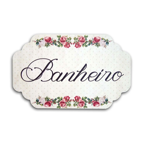 Plaquinha para Banheiro Provence - 29x18 cm