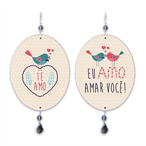 Plaquinha Móbile Amo Amar Você em MDF - 13,5x10,5 cm