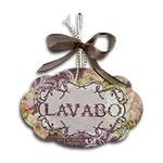 Plaquinha Móbile para Lavabo Aramado - 19x13 cm