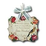 Plaquinha Móbile Bem Vindos Pássaro Rei com Fitinhas - 24x20,3 cm