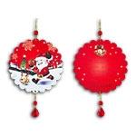 Plaquinha Móbile Bola Noel e Rena - 13 cm