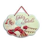 Plaquinha Móbile Feliz Natal - 29x20 cm