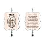 Plaquinha Móbile Oração Maria Passa à Frente - 17,5x15 cm