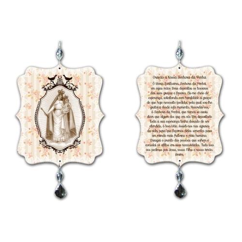 Plaquinha Móbile Oração Nossa Senhora da Penha - 17,5x15 cm