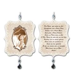 Plaquinha Móbile Oração Pai Nosso em MDF - 17,5x15 cm R$ 57,99 R$ 42,99 1x de R$ 38,69 sem juros