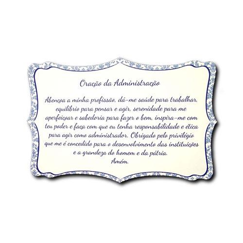 Plaquinha Oração da Administração - 27x18 cm